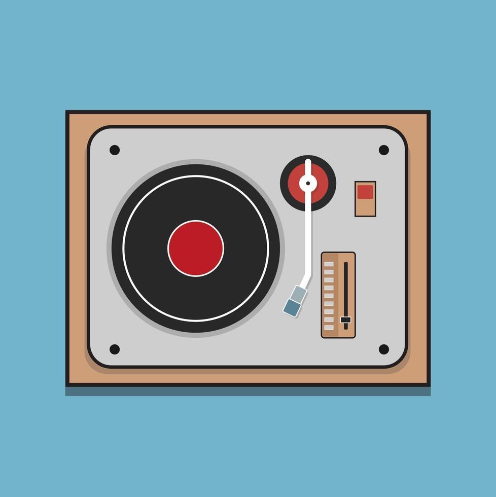 dj mixer. plat ontwerp met deeltjes voor uw feestvlieger vector