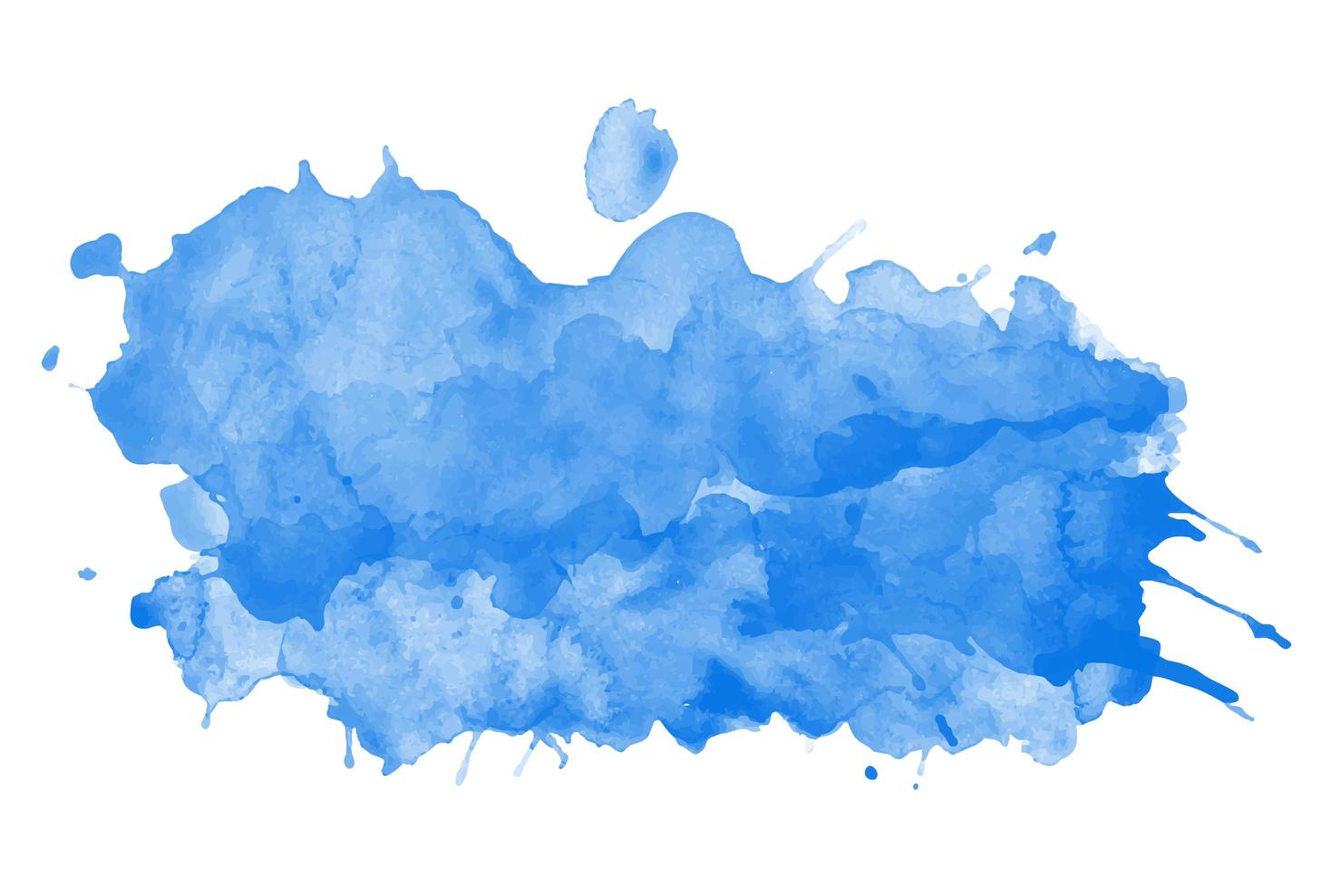 blauwe aquarel splash vector sjabloon
