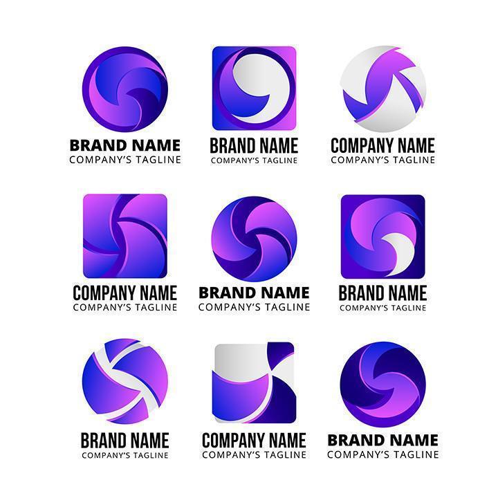 abstracte bedrijfslogo-ontwerpen vector