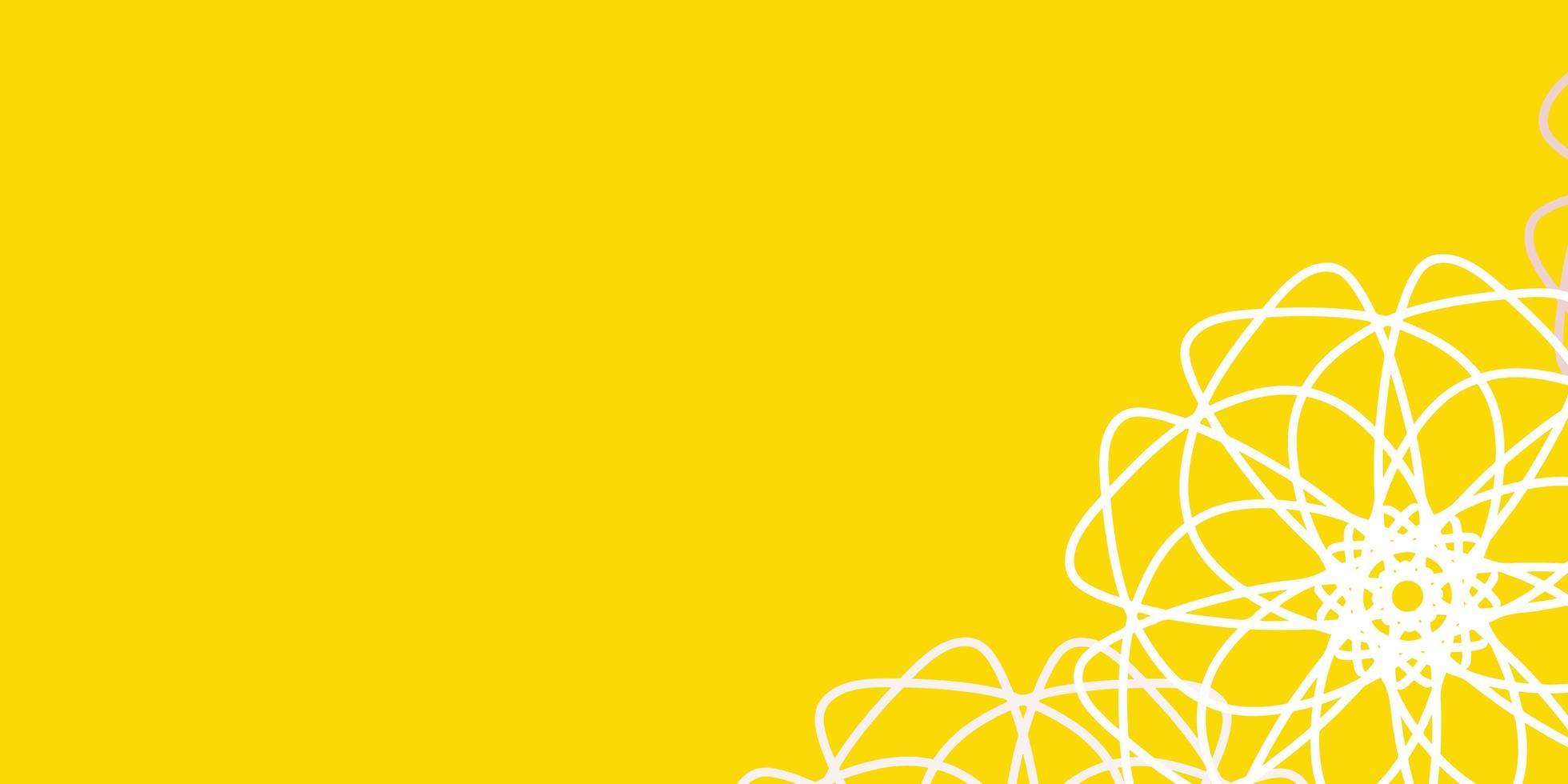 lichtoranje vector natuurlijk kunstwerk met bloemen.