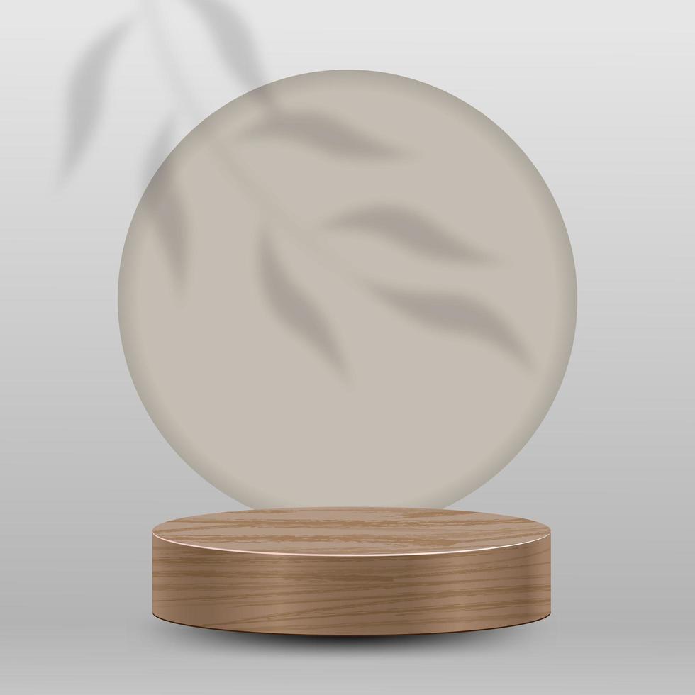abstracte minimale scène op bruine achtergrond met rond podium vector