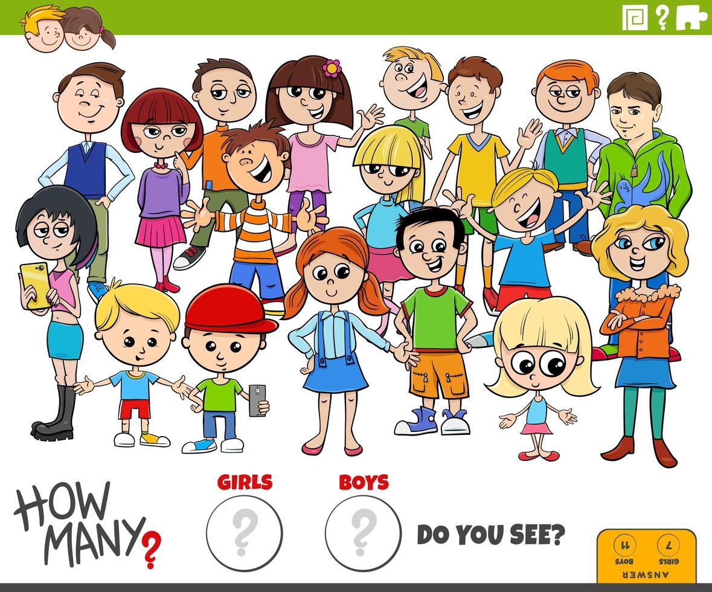 hoeveel meisjes en jongens educatieve taak vector