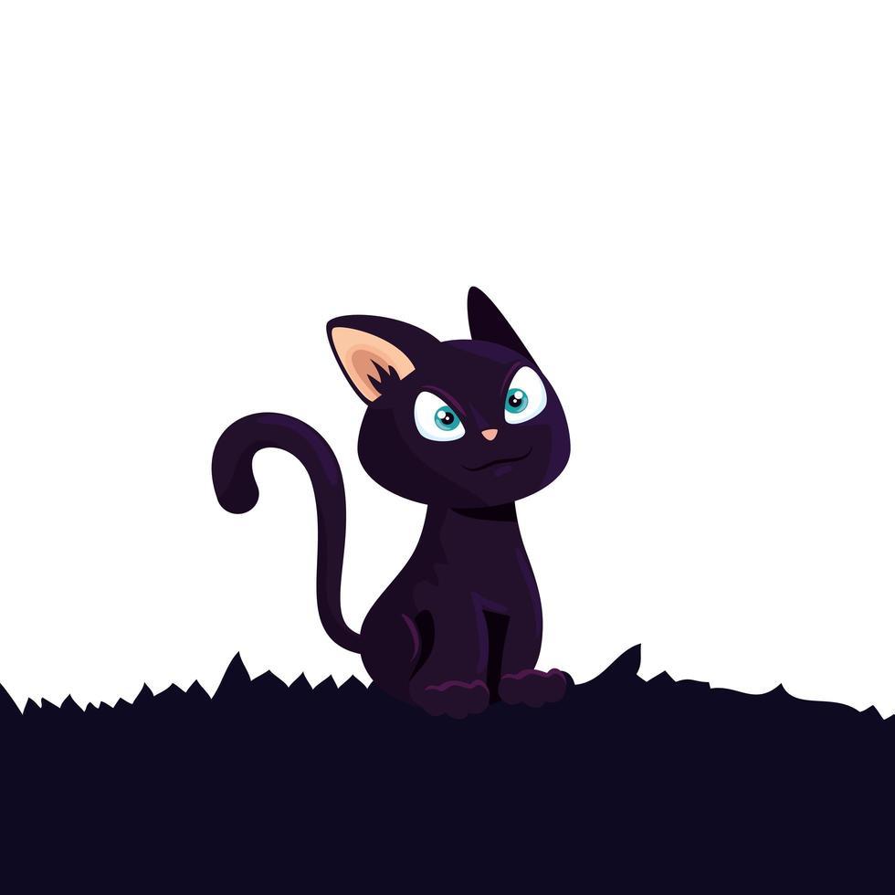 kat katachtig dier van halloween vector