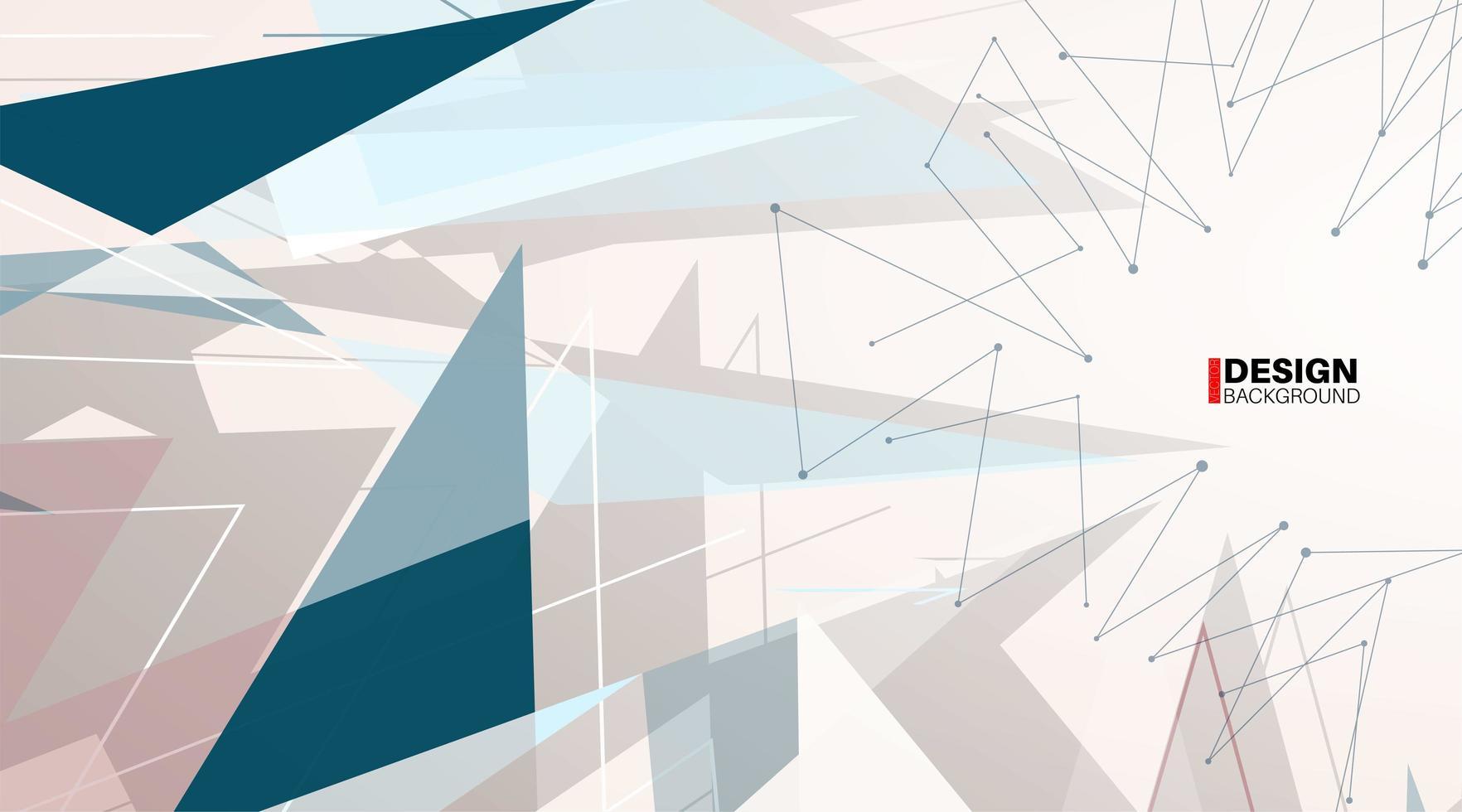 geometrische abstracte achtergrond. overlapping van moderne vormen vector