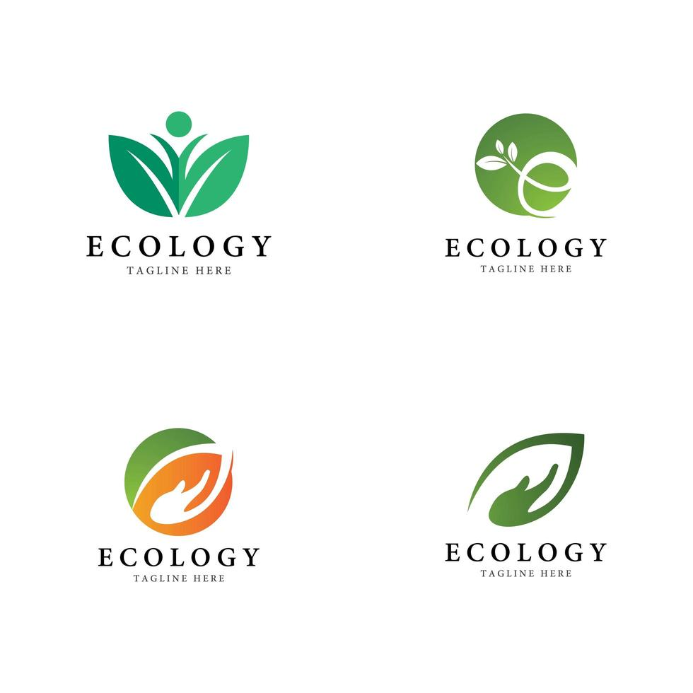 boom blad logo pictogramserie vector