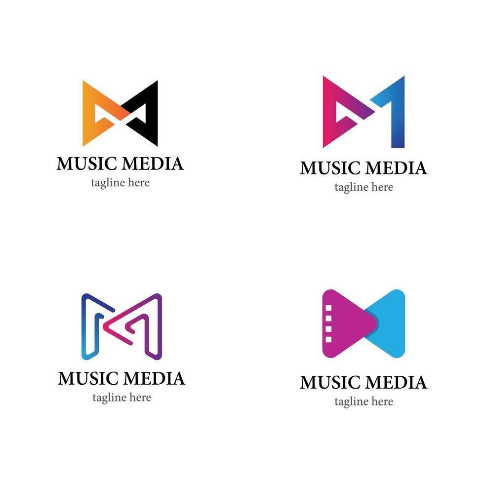 muziek logo pictogramserie vector