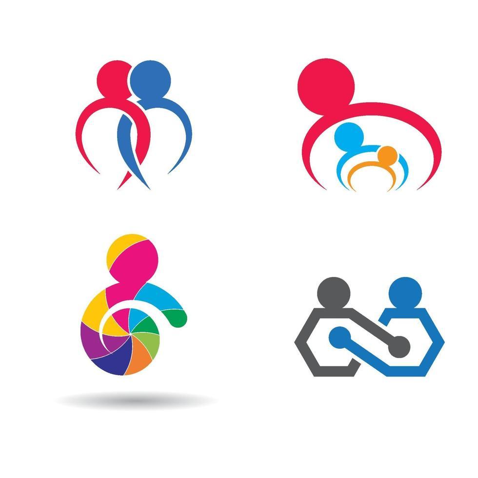 gemeenschapszorg logo afbeeldingen ontwerpset vector
