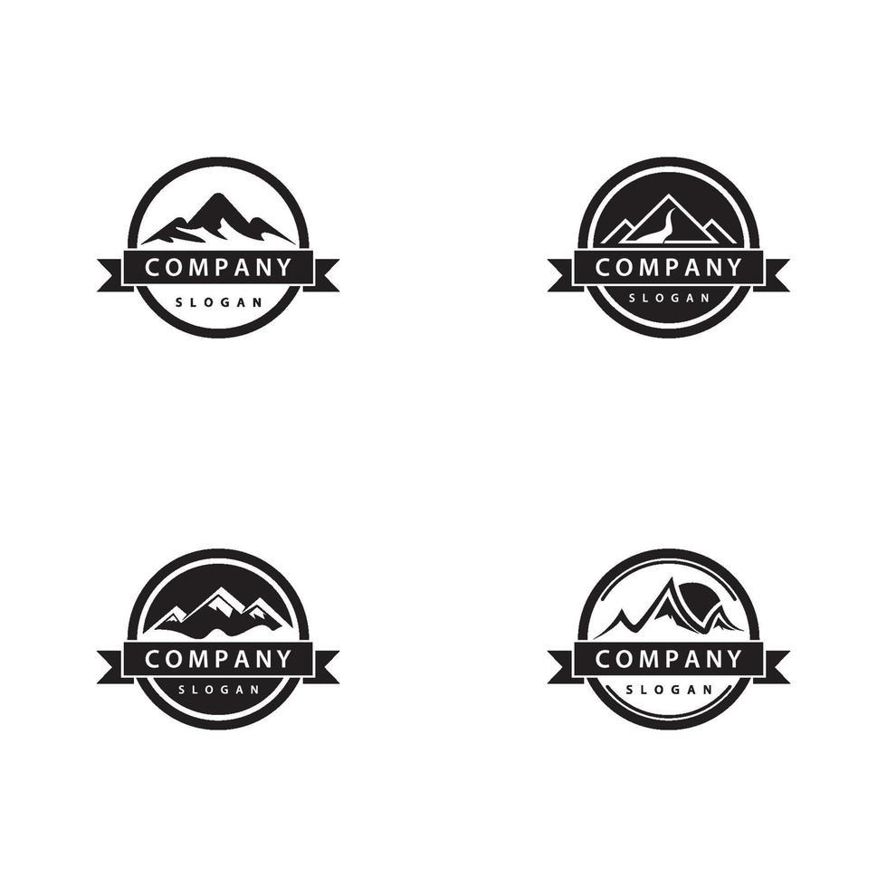 berg banner pictogramserie vector