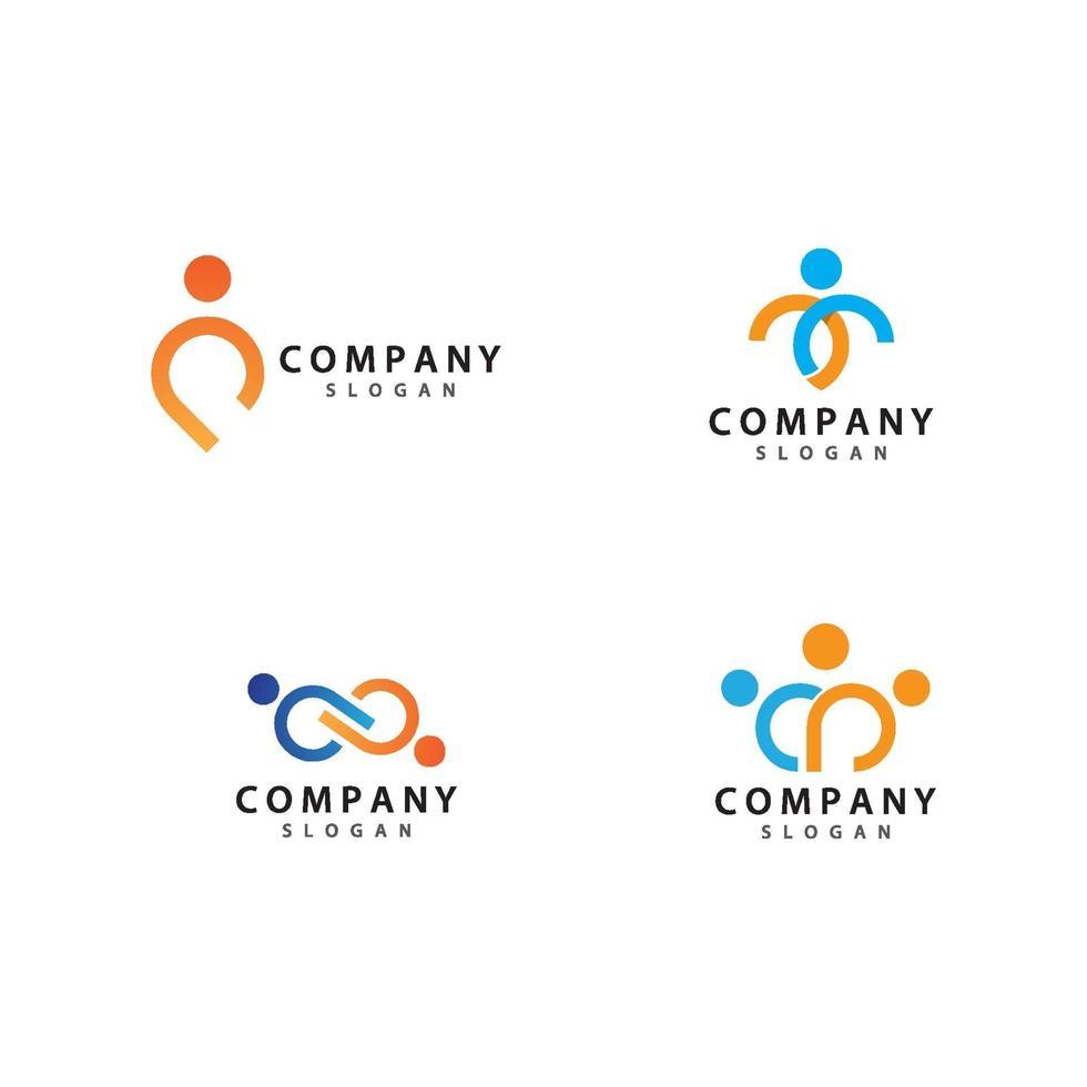 mensen logo pictogramserie vector