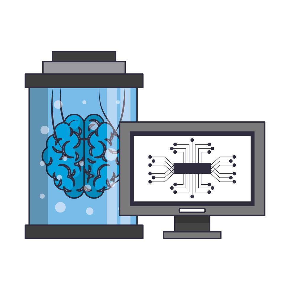 kunstmatige intelligentie pictogrammen concept cartoon vector