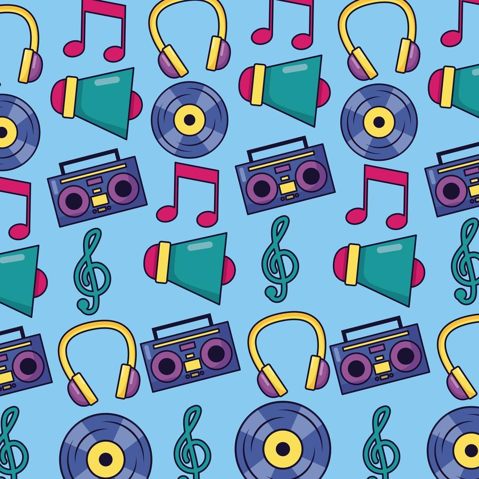 muziek patroon achtergrond vector