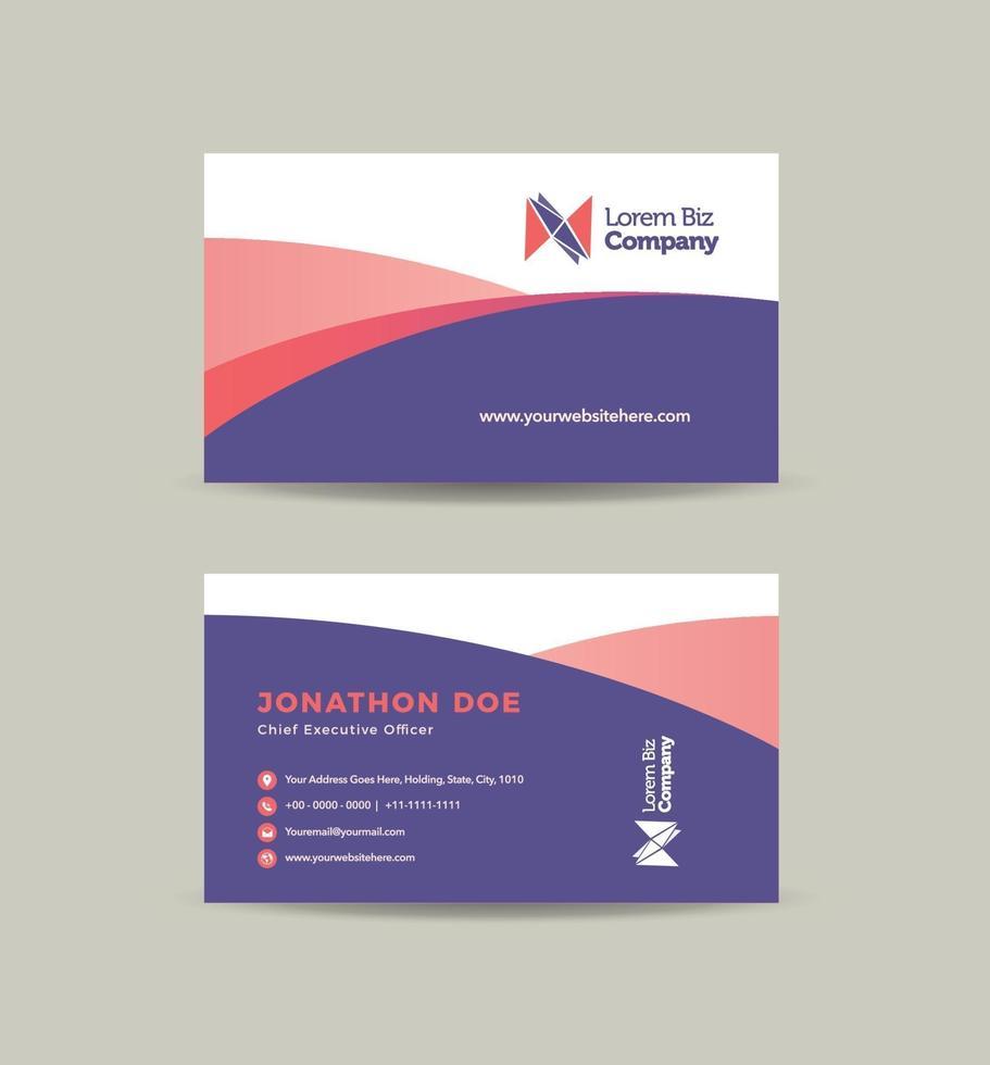 zakelijk visitekaartje ontwerp of visitekaartje en persoonlijk visitekaartje vector