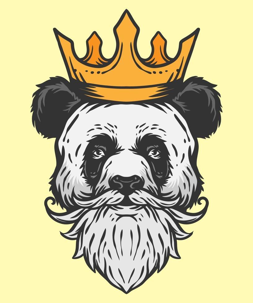 koning van panda illustratie vector