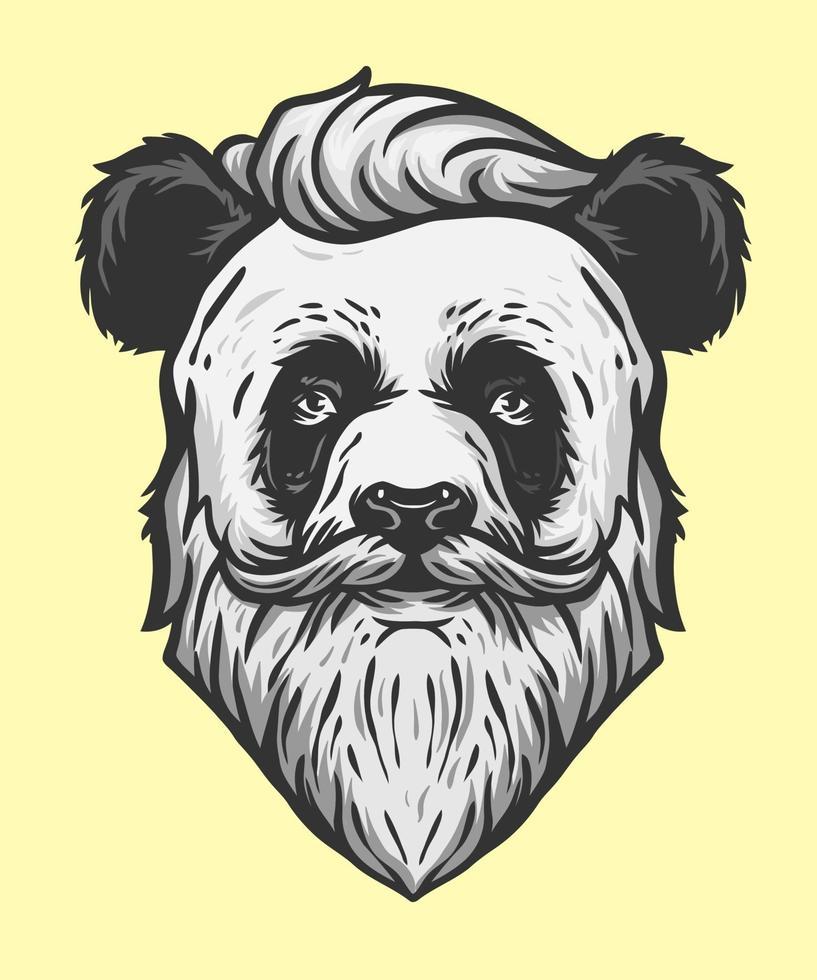 panda cool man illustratie vector