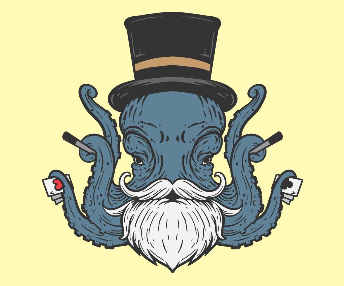 octopus goochelaar illustratie vector
