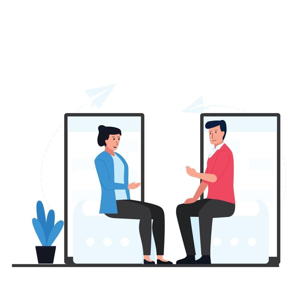 online chat concept illustratie vector