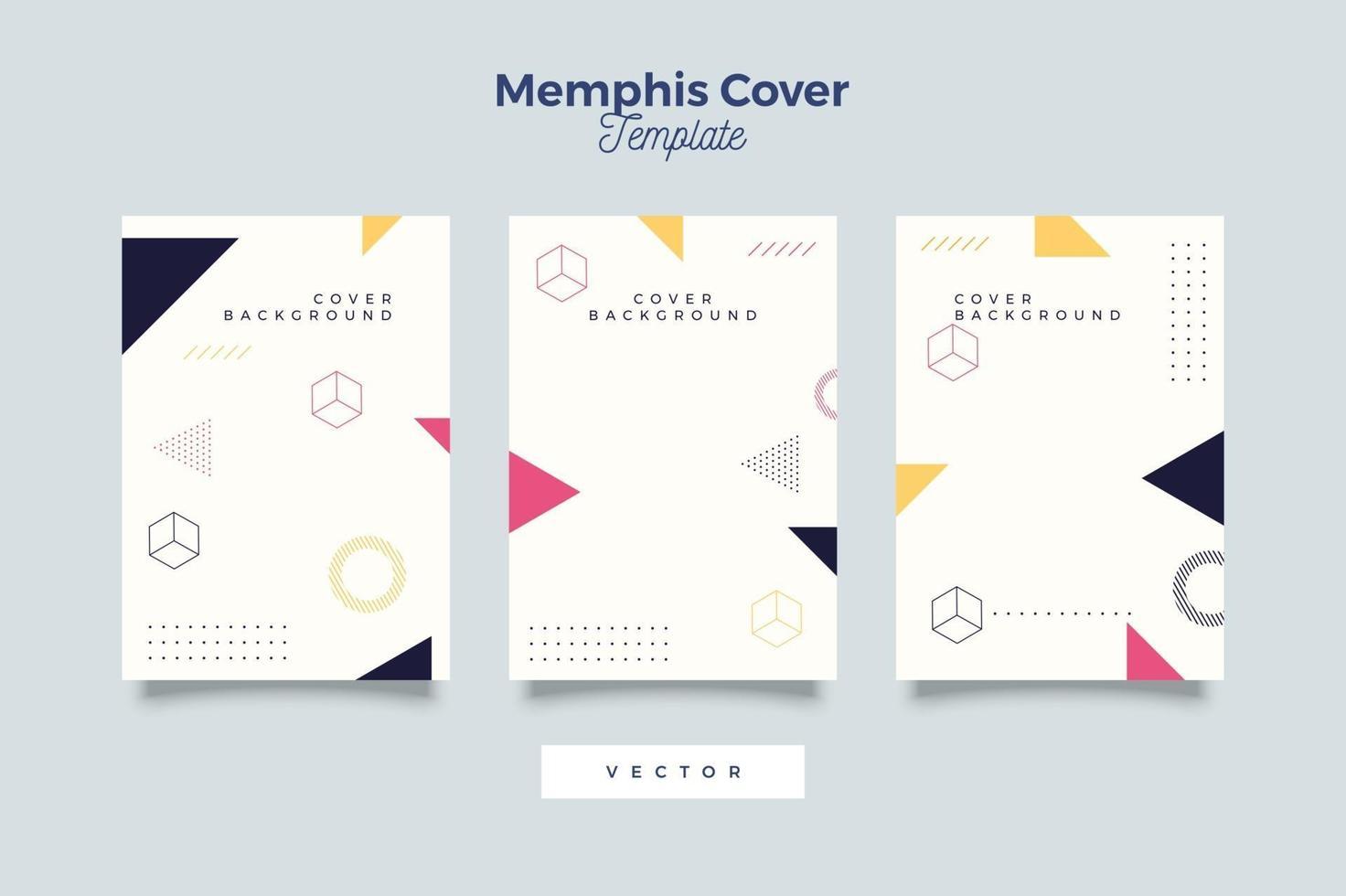 een bundel poster, omslag en flyer met geometrische stijl vector