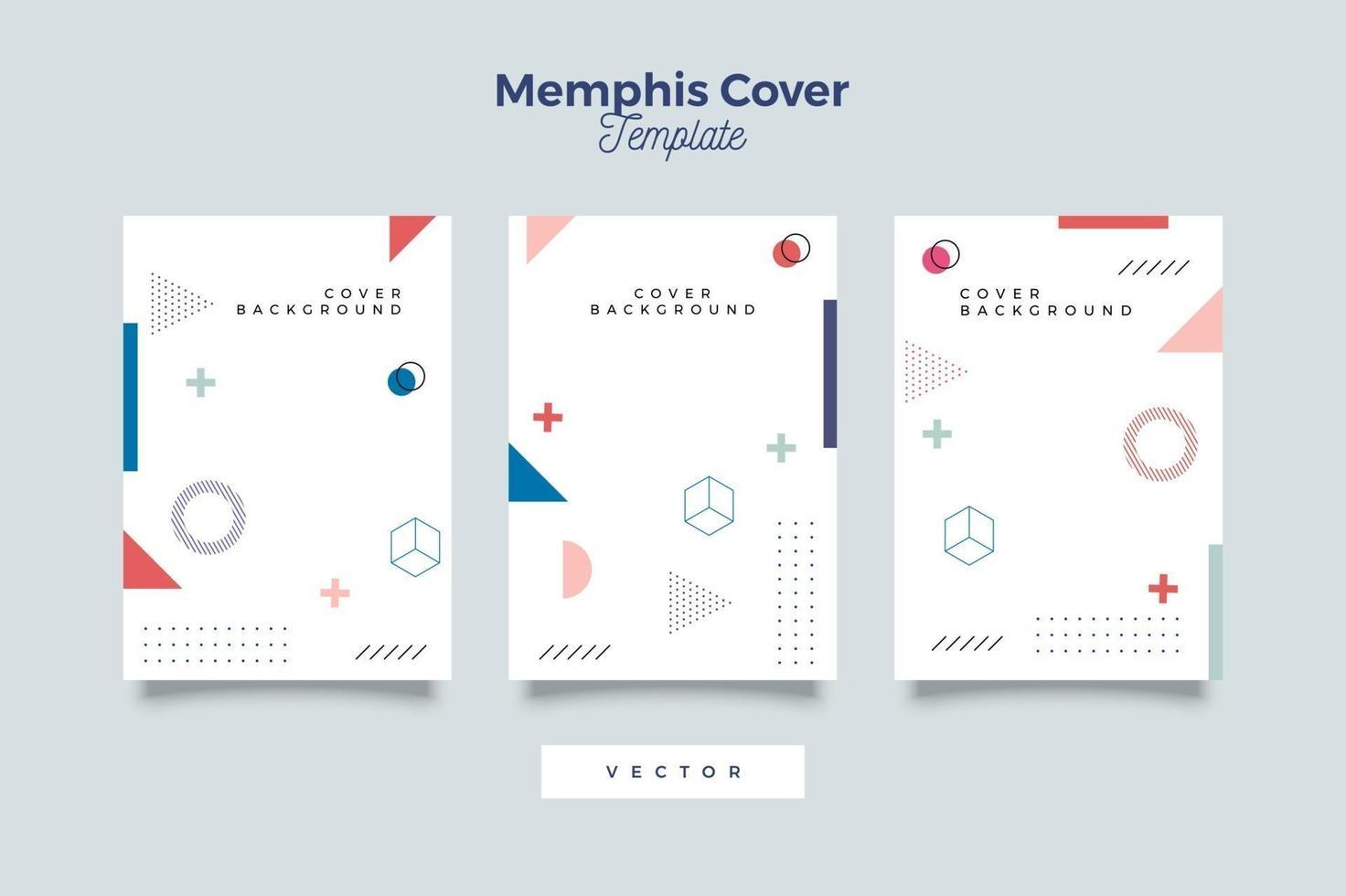eenvoudige covers in memphis-stijl vector