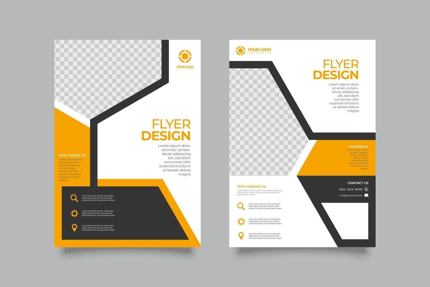 elegante flyer zakelijke brochure sjabloonontwerp vector