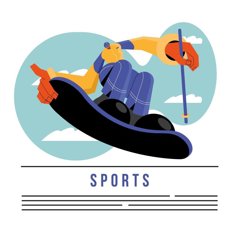 atleet snowboard sjabloon voor spandoek vector