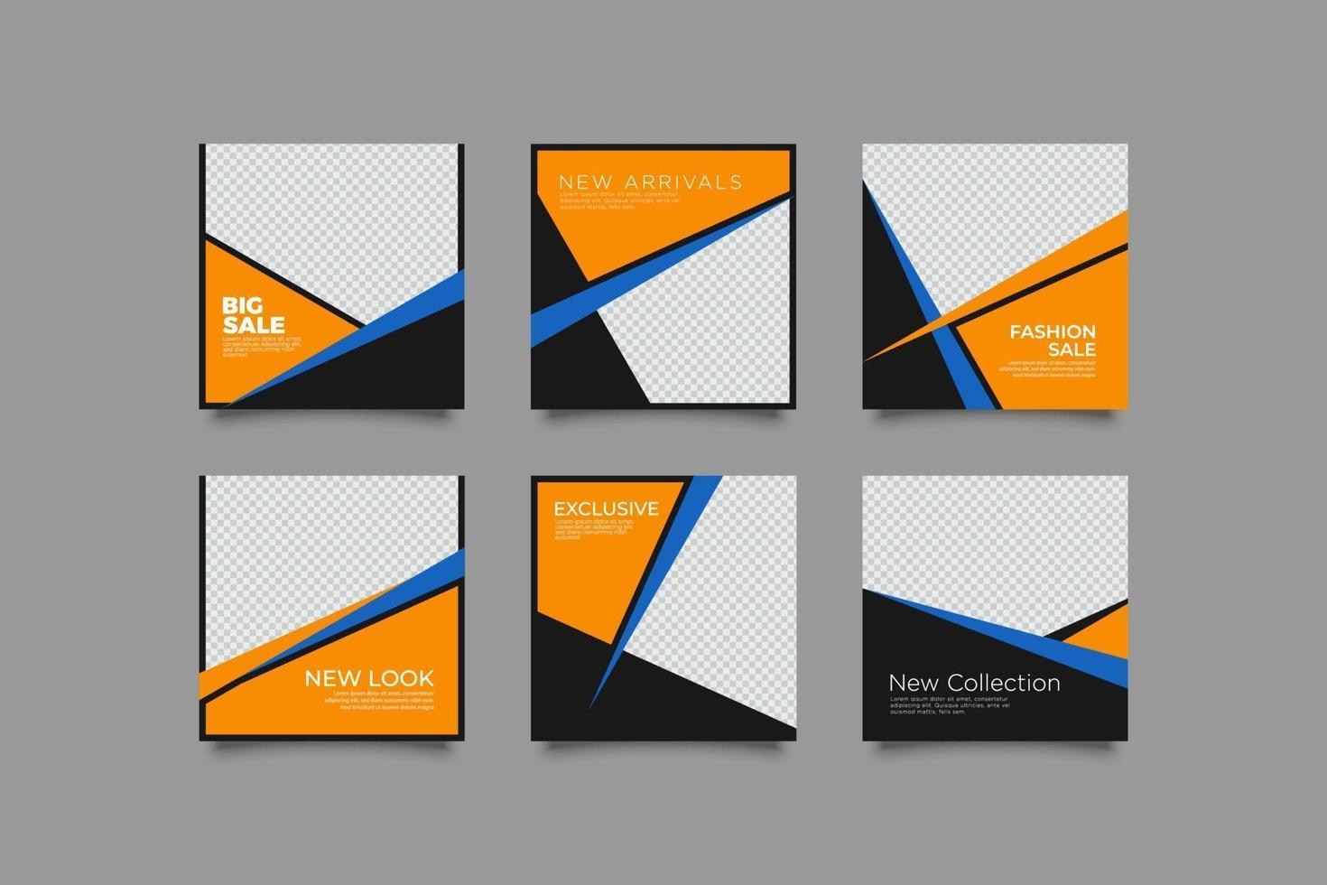 minimalistische zakelijke social media-bundel vector