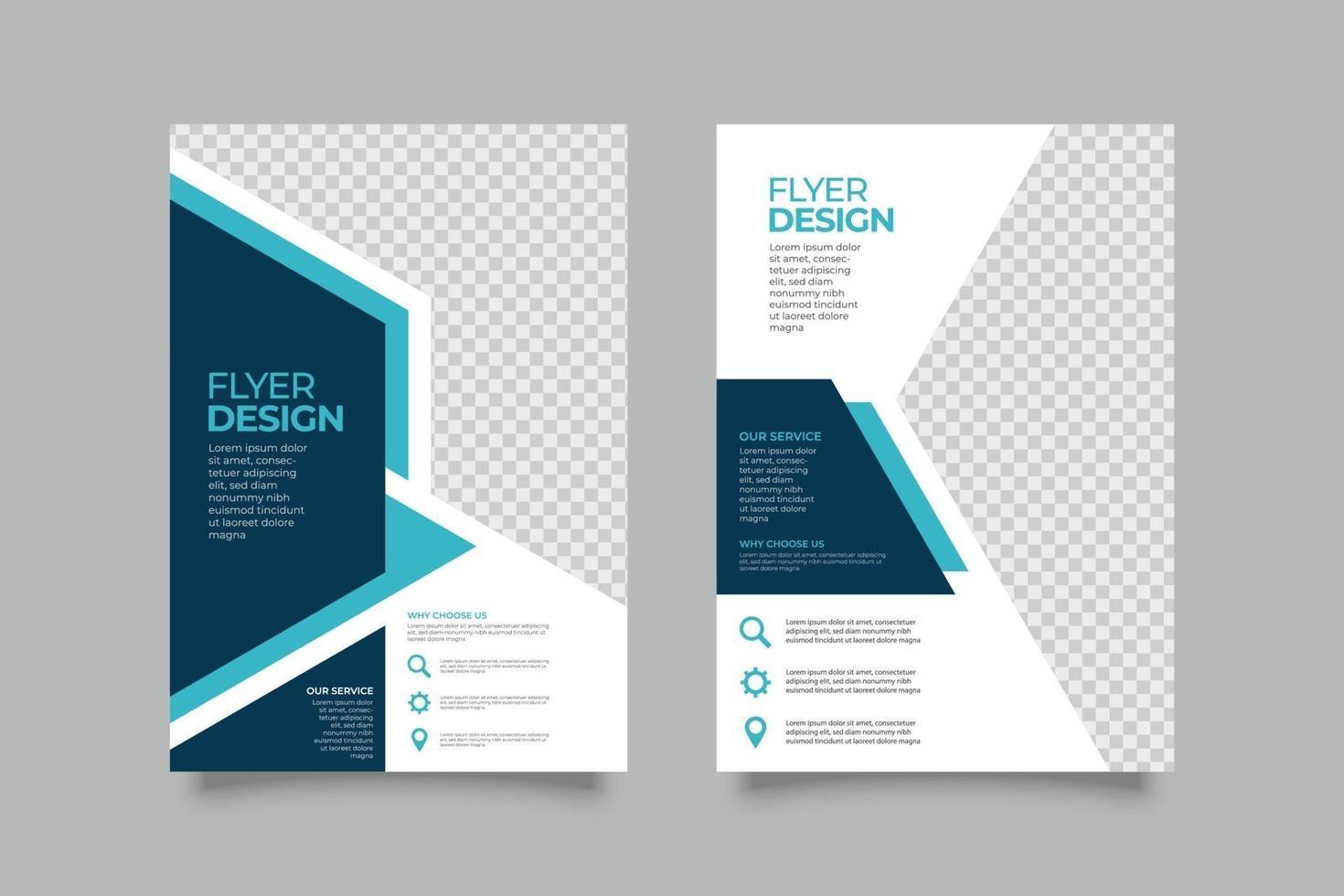 digitale marketing flyer-sjabloon met abstracte vormen vector