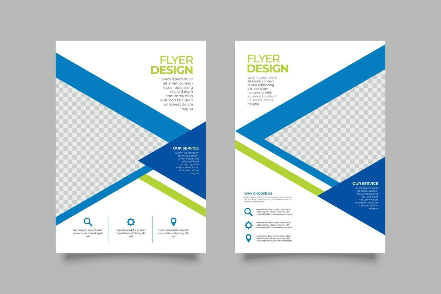 tweekleurige zakelijke flyer-sjabloon vector