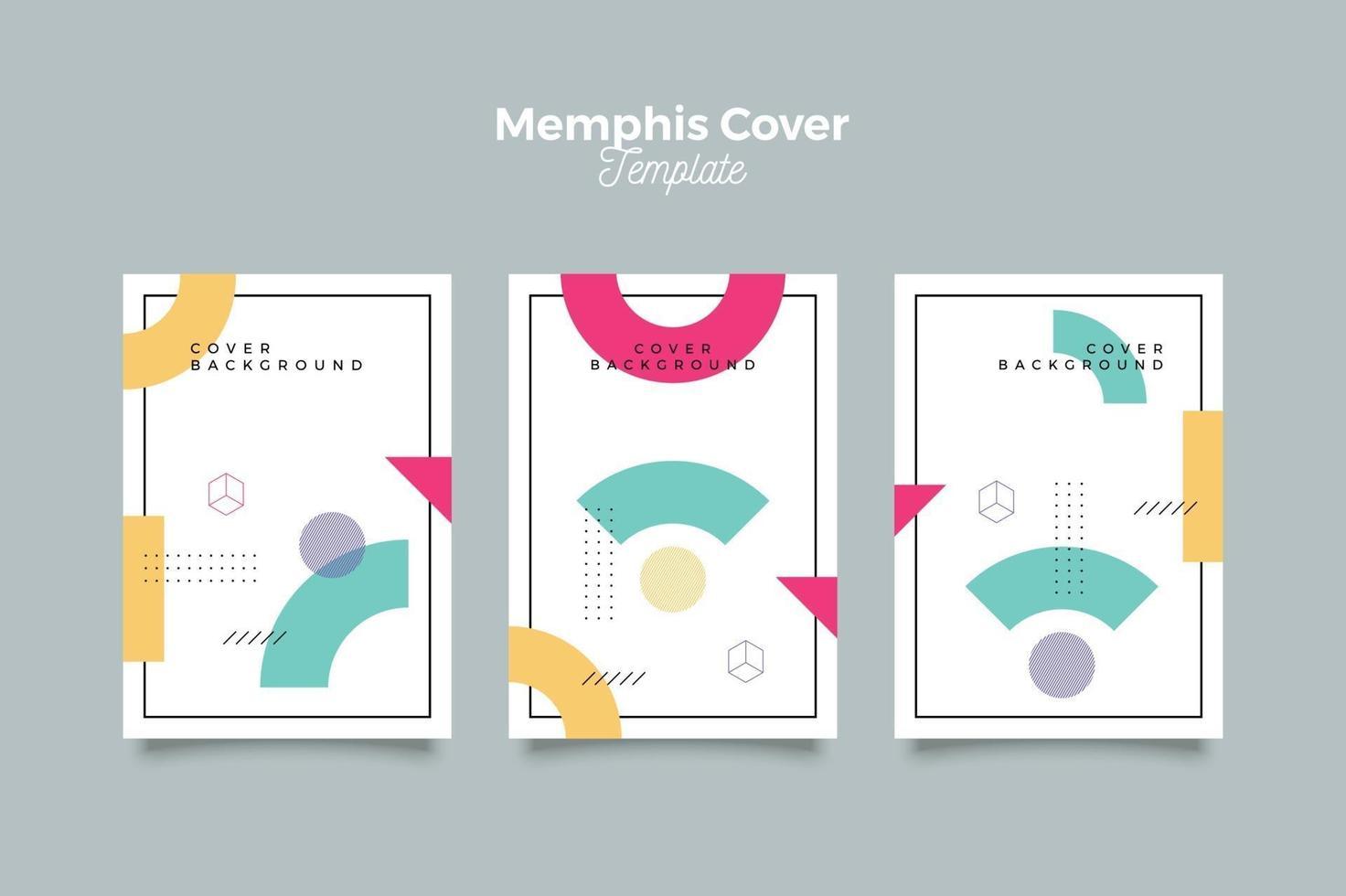 memphis covercollectie met abstracte vormen vector