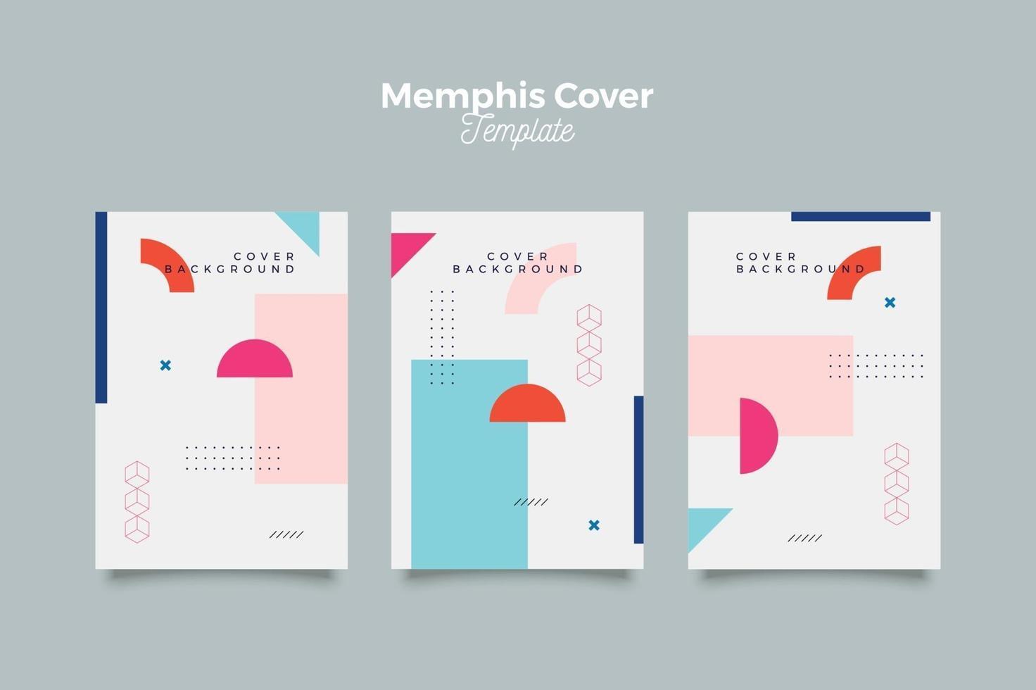 memphis covercollectie met dynamische kleuren vector