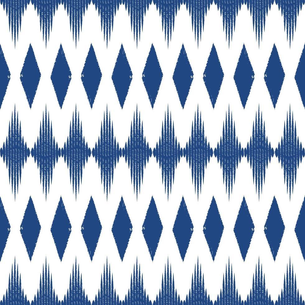 blauwe kleur ikat naadloze patroon achtergrond. ontwerp voor behang, tapijt, kleding, verpakking, stof, kussen textieldecoratie. vector