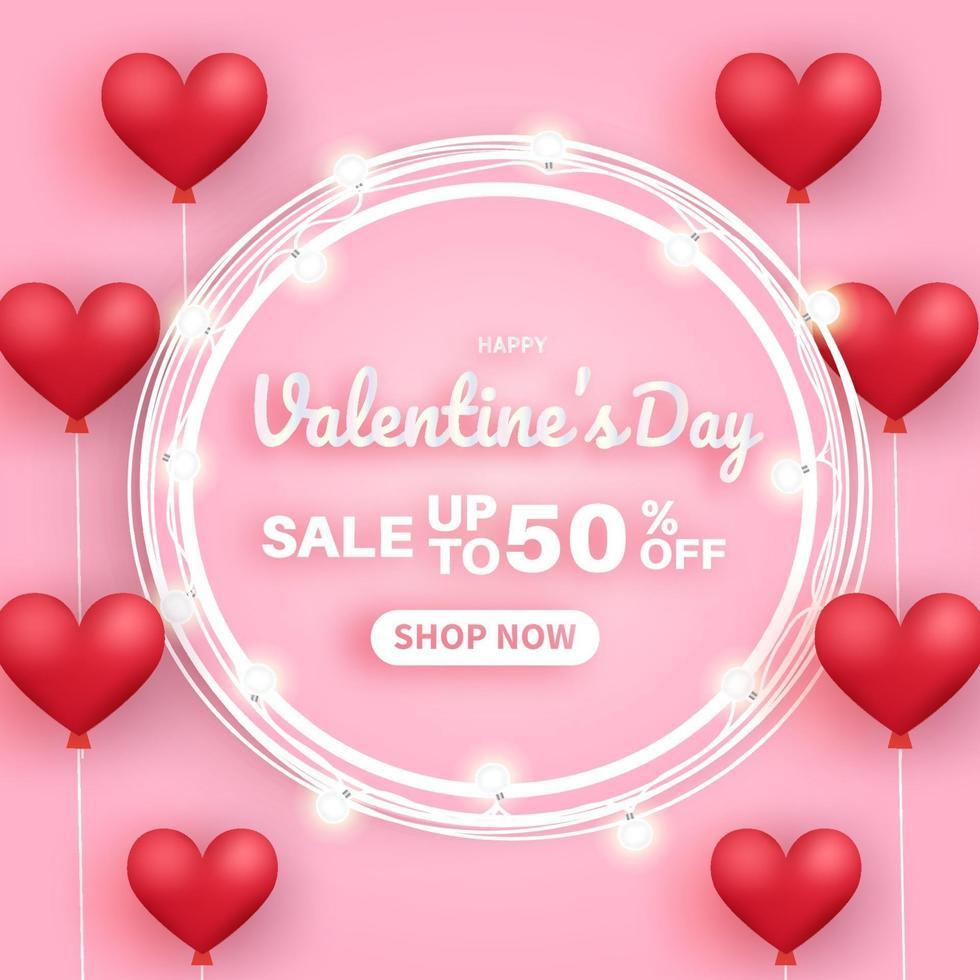 Valentijnsdag verkoop banner. vector