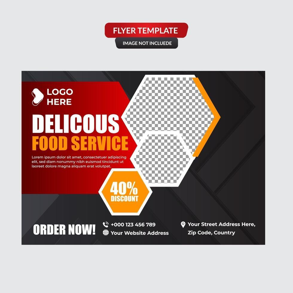 hamburgers restaurant folder sjabloon vector