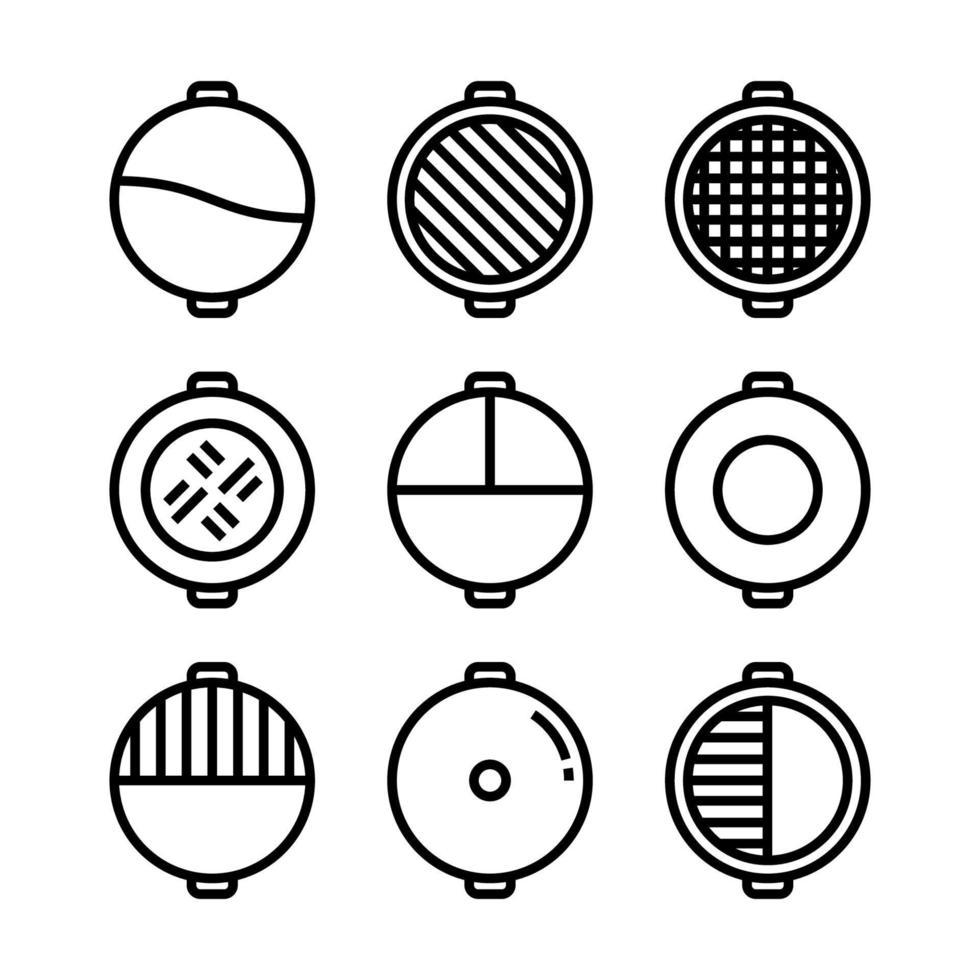 hete pot shabu sukiyaki pictogram vector. vector