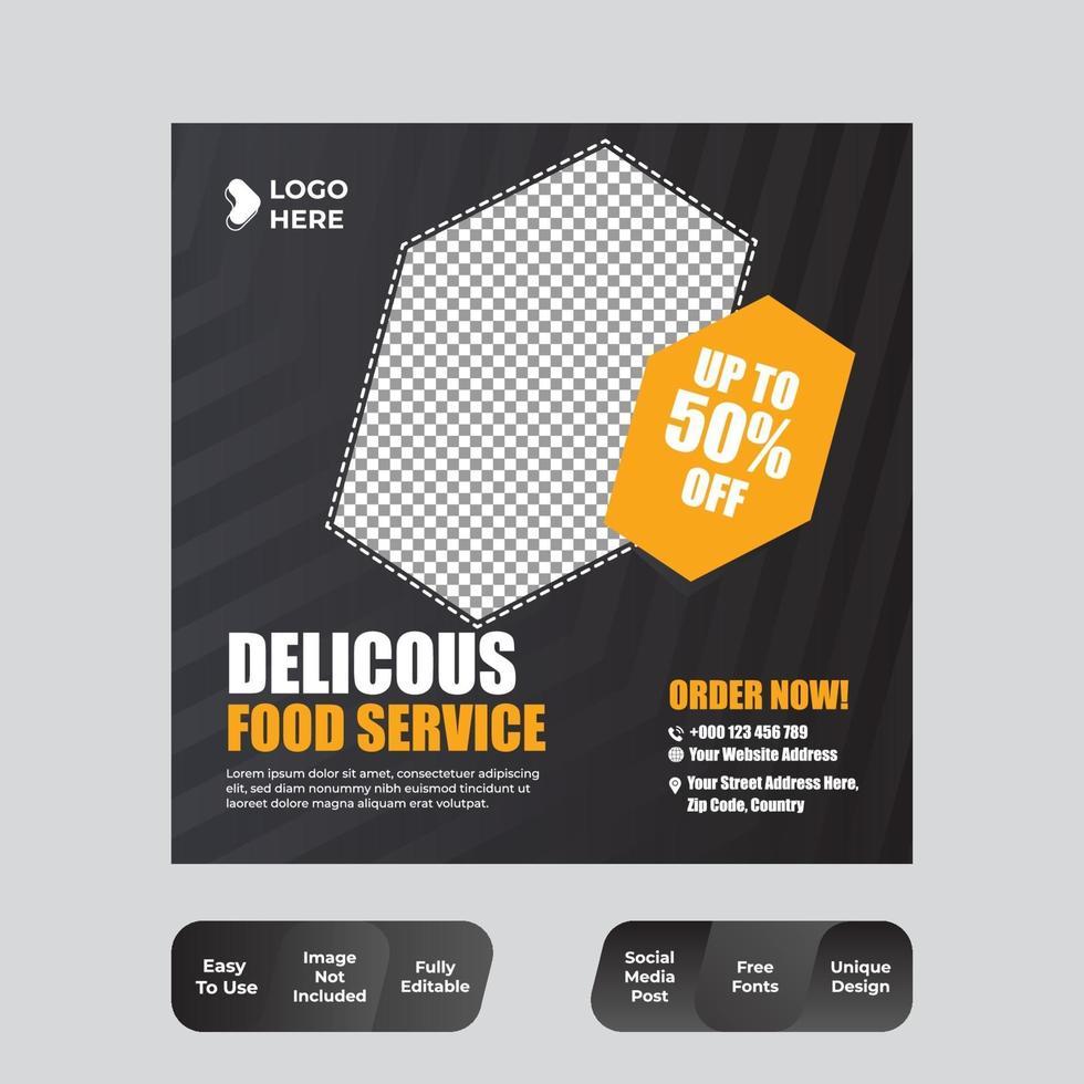 voedsel menu sjabloon voor spandoek sociale media vector
