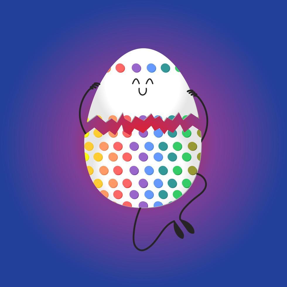 vrolijk Pasen met gelukkige eieren vector