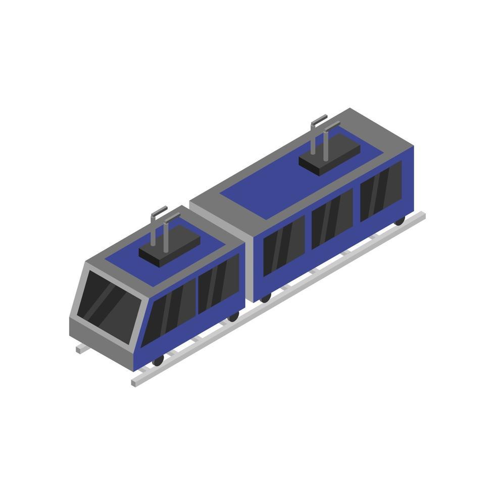 isometrische trein op witte achtergrond vector