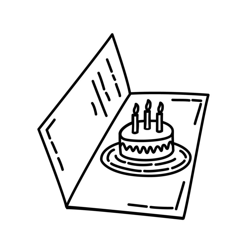 kaart pictogram. kinderspel hand getrokken of zwarte omtrek pictogramstijl vector