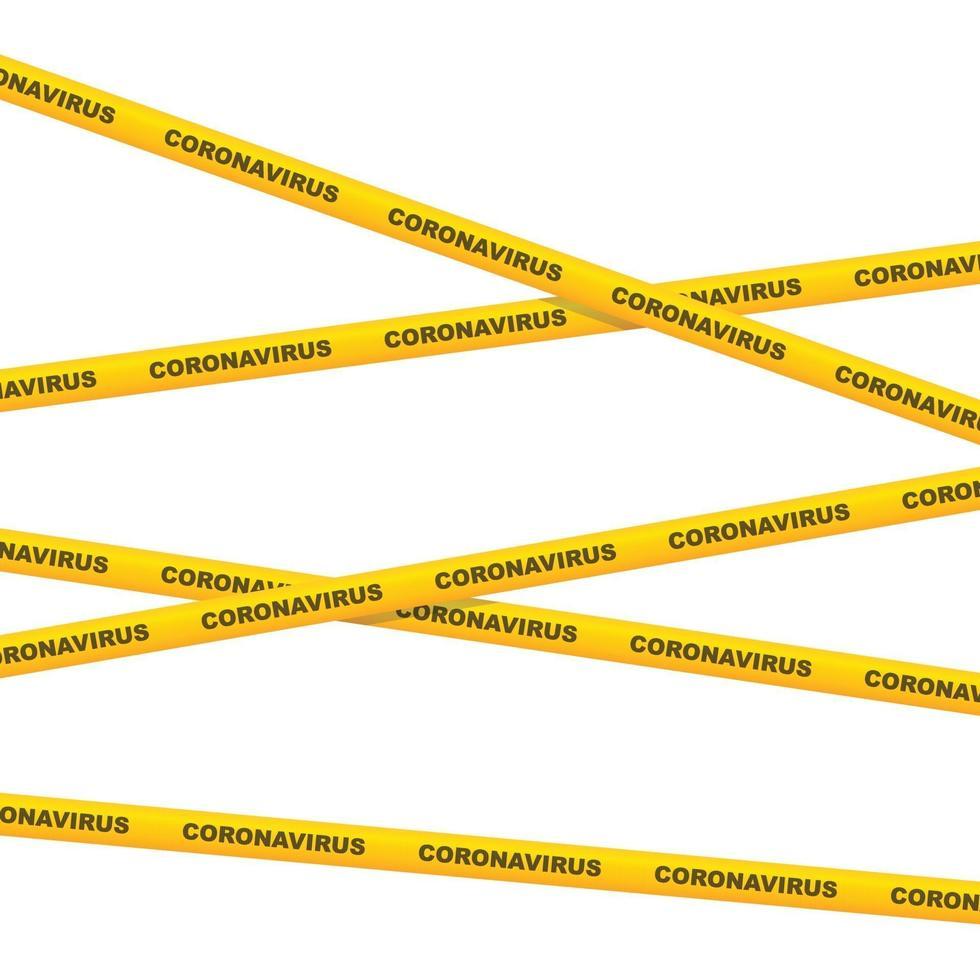 coronavirus waarschuwing tape vectorillustratie vector