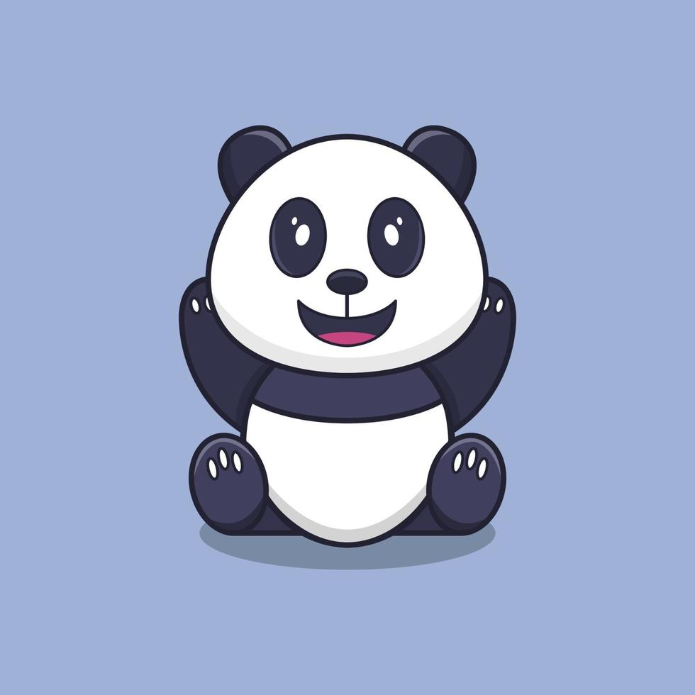 panda geïllustreerd op achtergrond vector