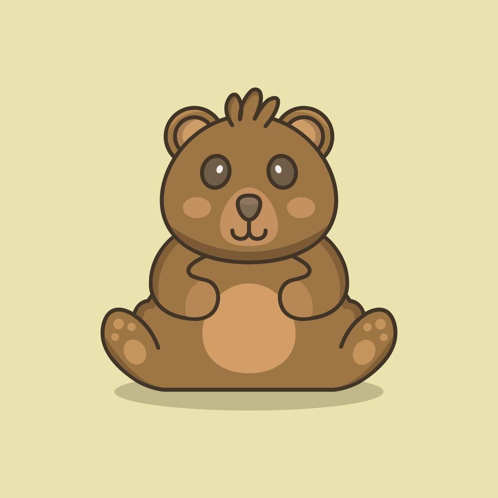 teddybeer geïllustreerd op achtergrond vector