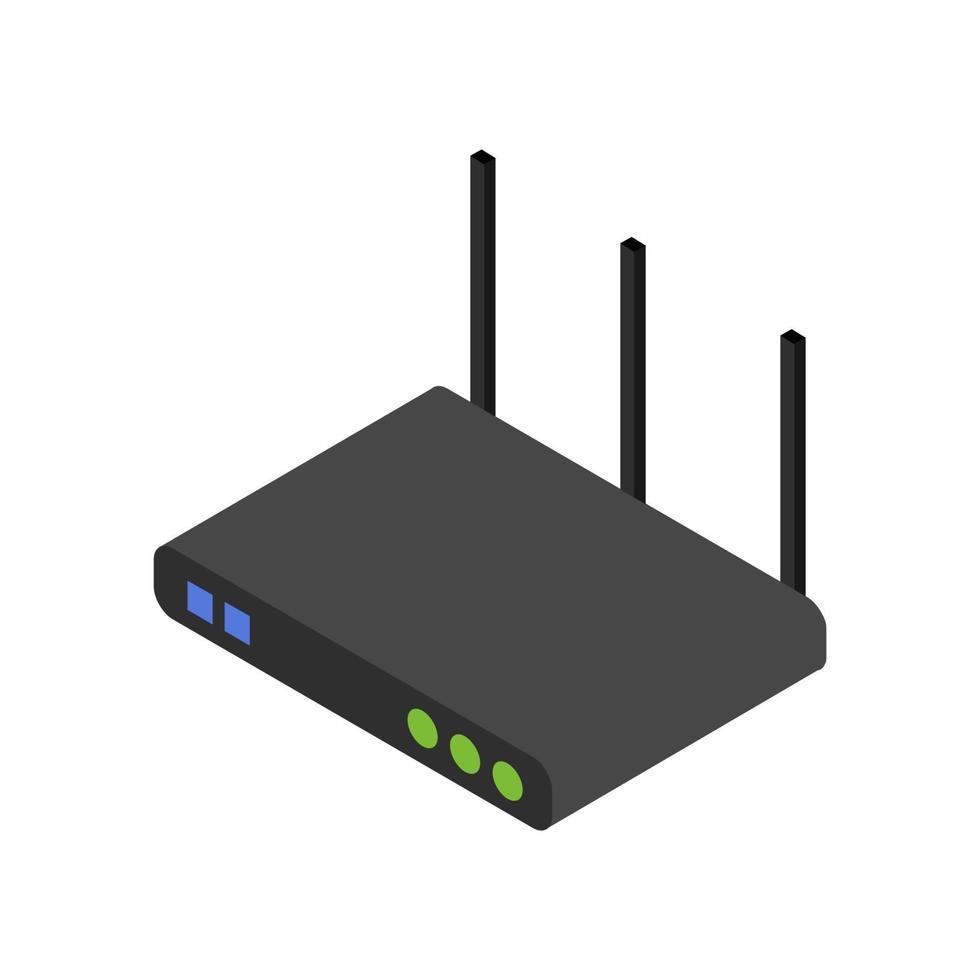 isometrische router geïllustreerd op witte achtergrond vector