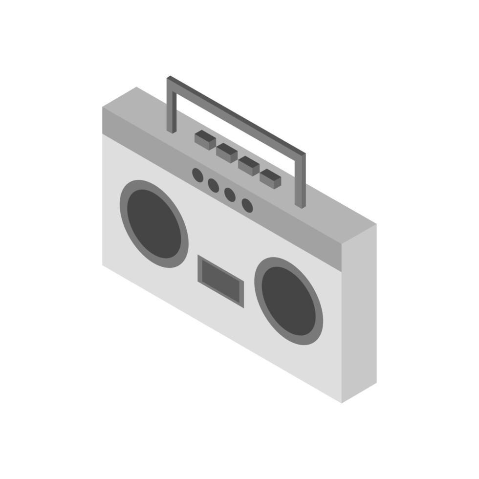 isometrische stereo geïllustreerd op witte achtergrond vector