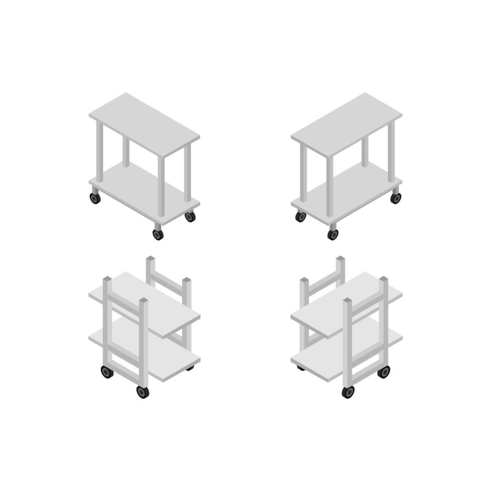 medische tabellen op witte achtergrond vector