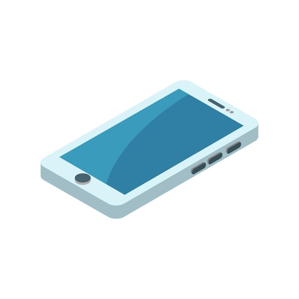 isometrische smartphone geïllustreerd op witte achtergrond vector