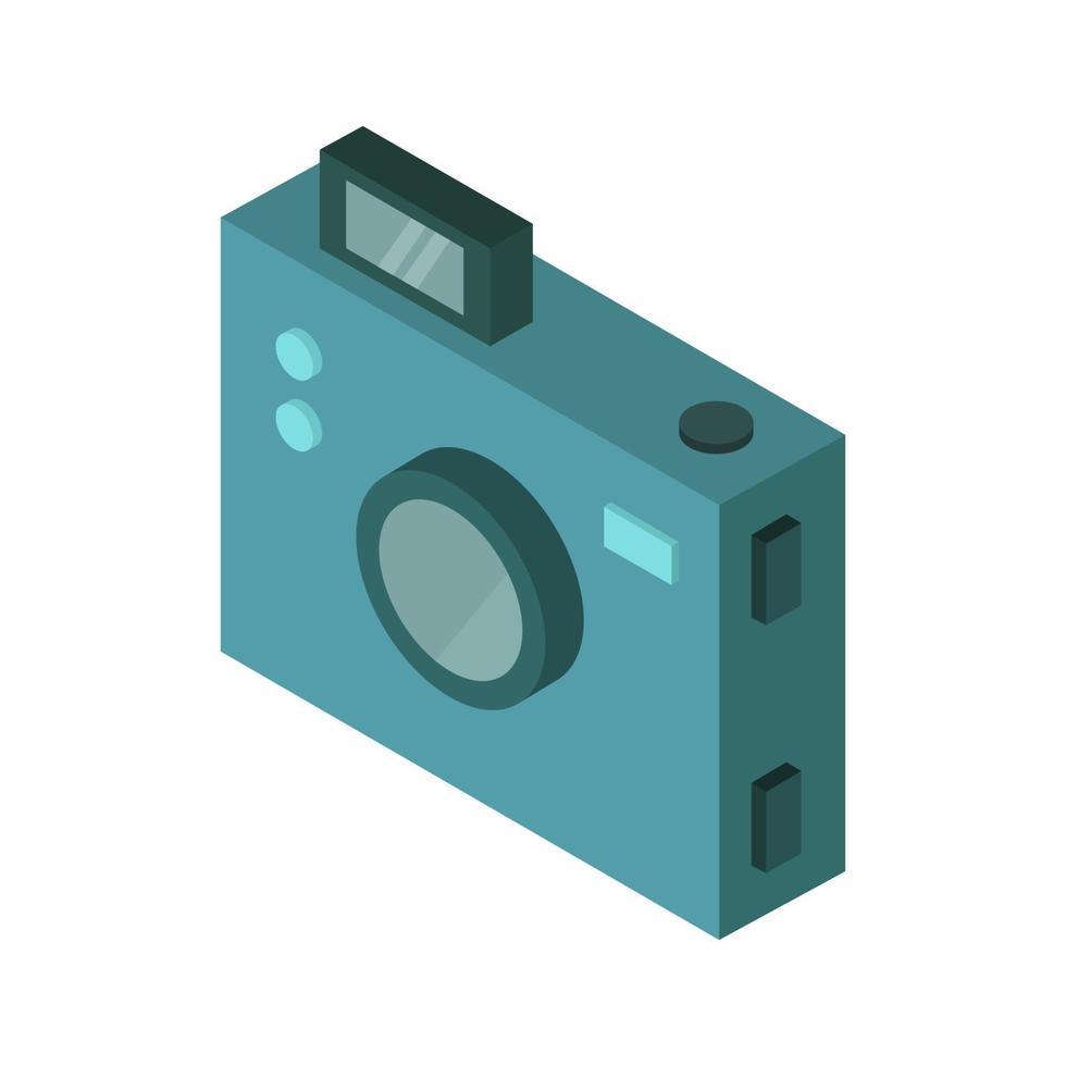 isometrische camera geïllustreerd op witte achtergrond vector
