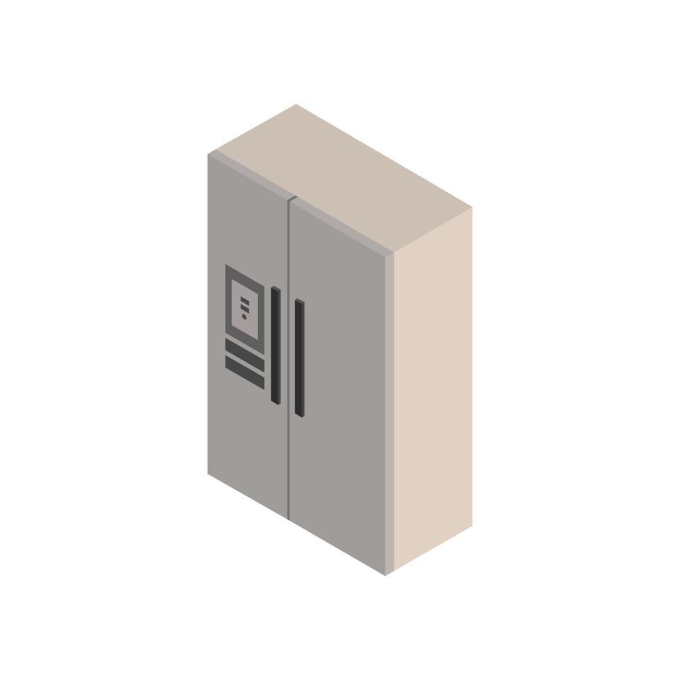 isometrische koelkast geïllustreerd op witte achtergrond vector