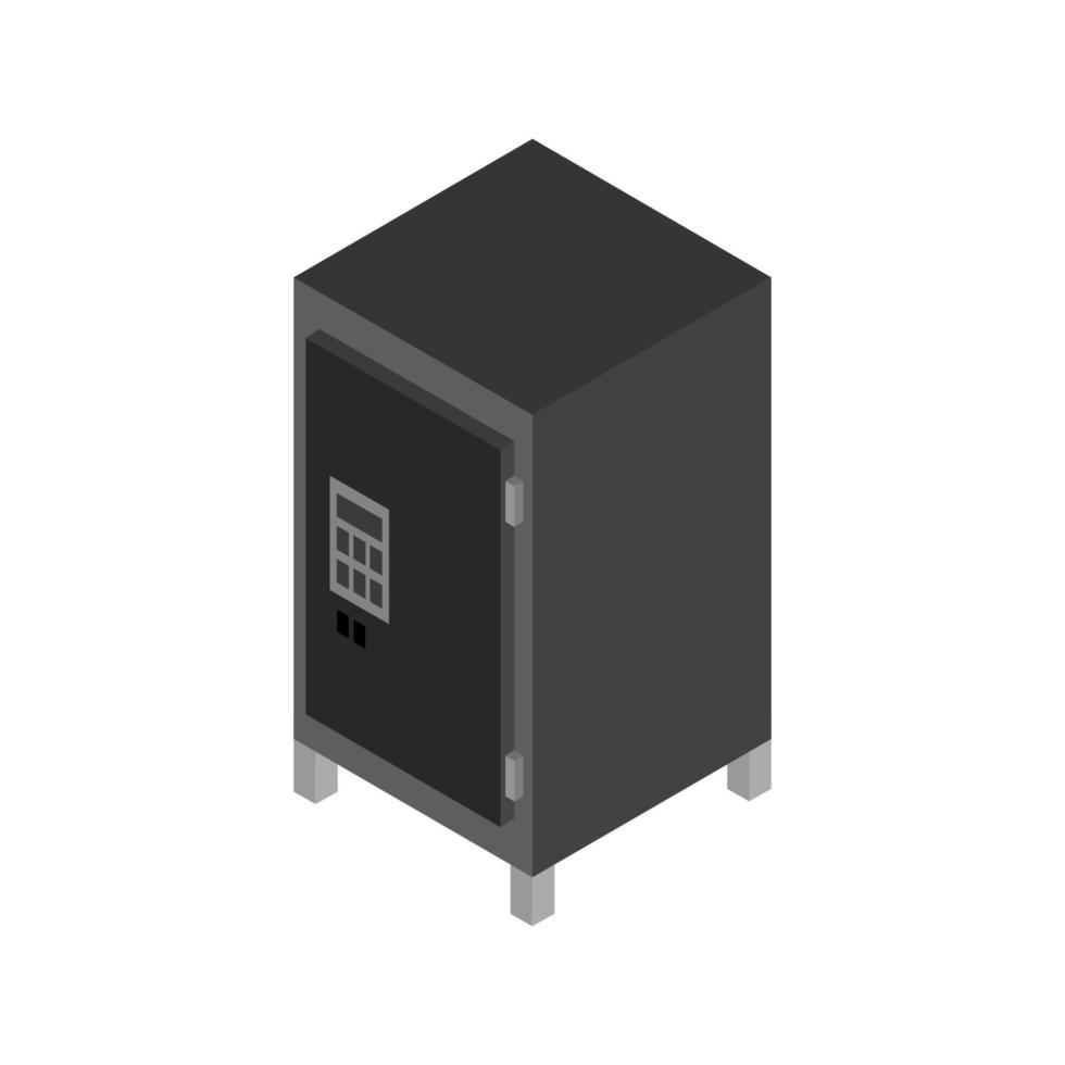 veilige isometrische geïllustreerd op witte achtergrond vector