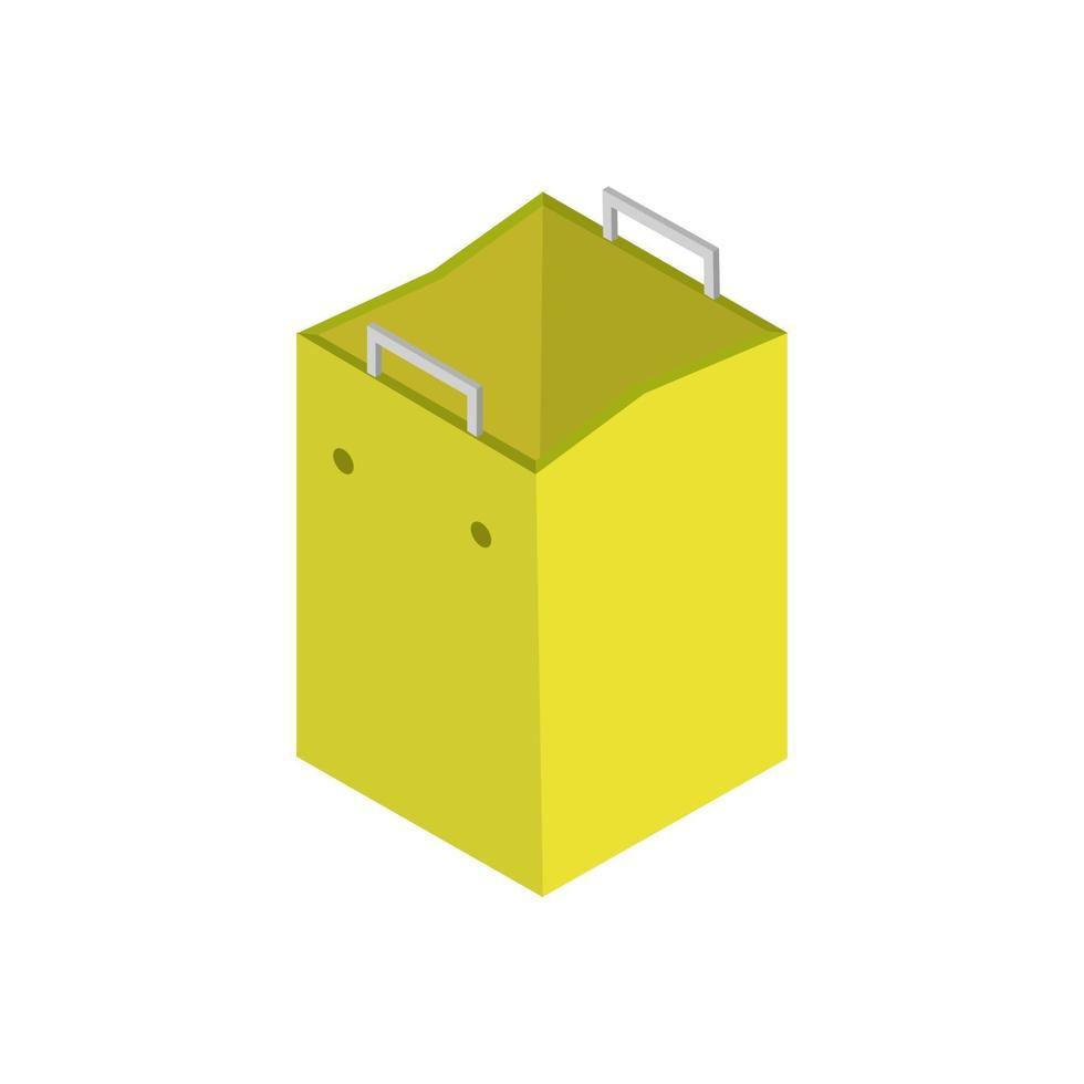 isometrische boodschappentas geïllustreerd op witte achtergrond vector
