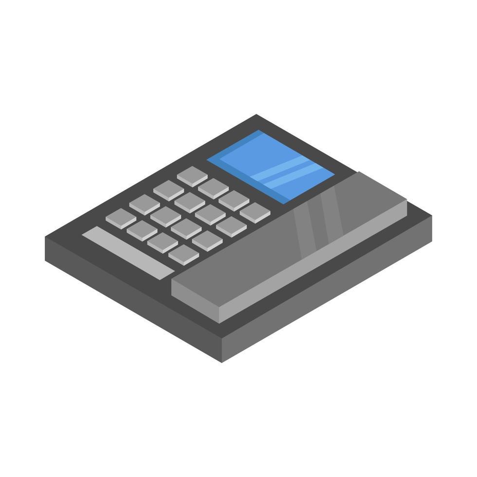 isometrische zakelijke telefoon geïllustreerd op witte achtergrond vector