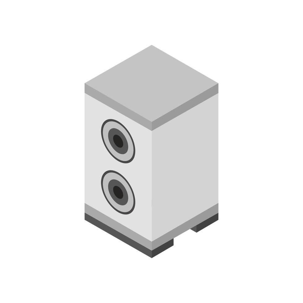 isometrische woofer geïllustreerd op witte achtergrond vector